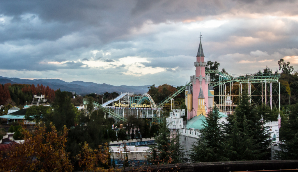 An image of The Castle taken from afar, while exploring Nara Dreamland in Japan.
