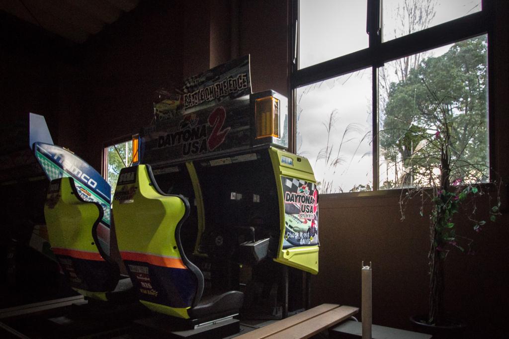 An image of the Daytona USA 2 game machine, taken while exploring Nara Dreamland in Japan.