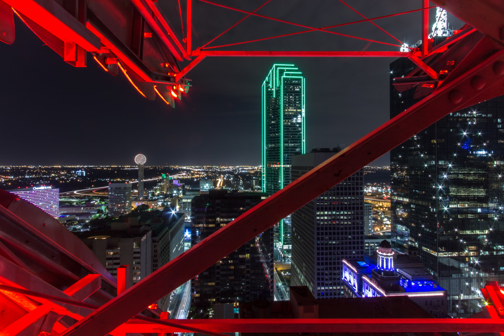 Inside the Pegasus while rooftopping in Dallas