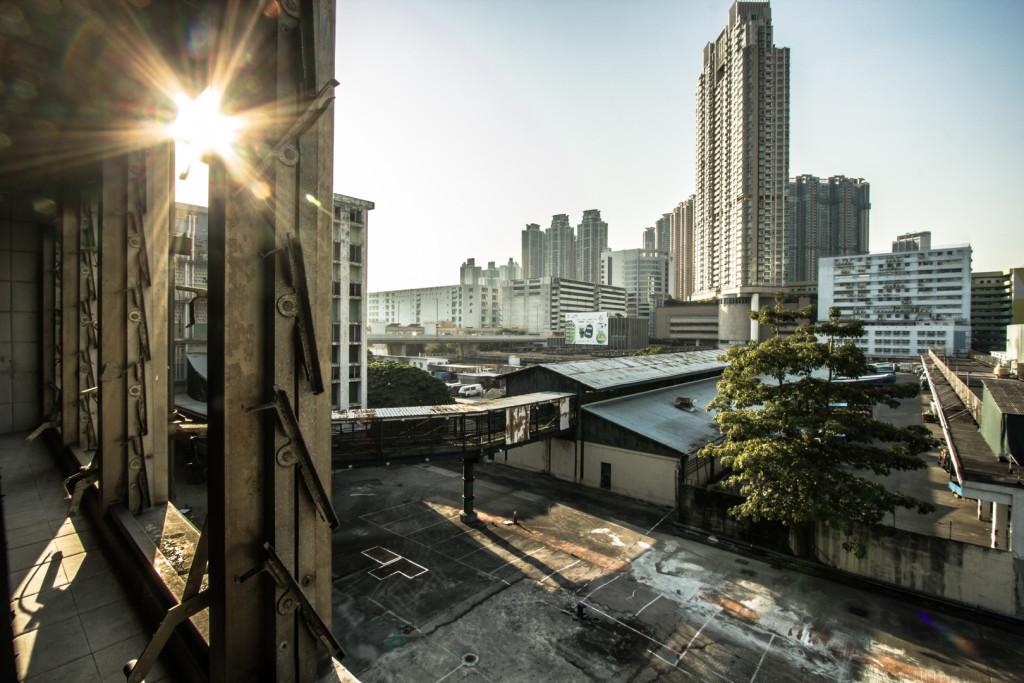 Inside a slaughterhouse, looking outwards; Hong Kong urbex