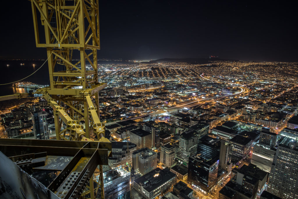 Rooftopping on the tallest skyscraper in San Francisco