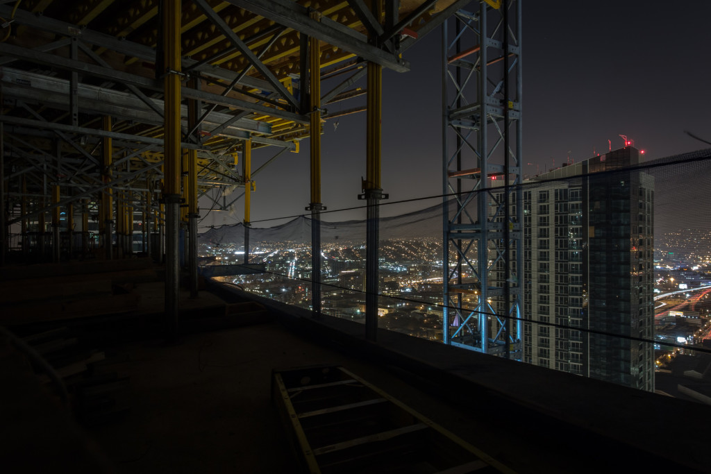 Top floor level view of San Francisco while rooftopping