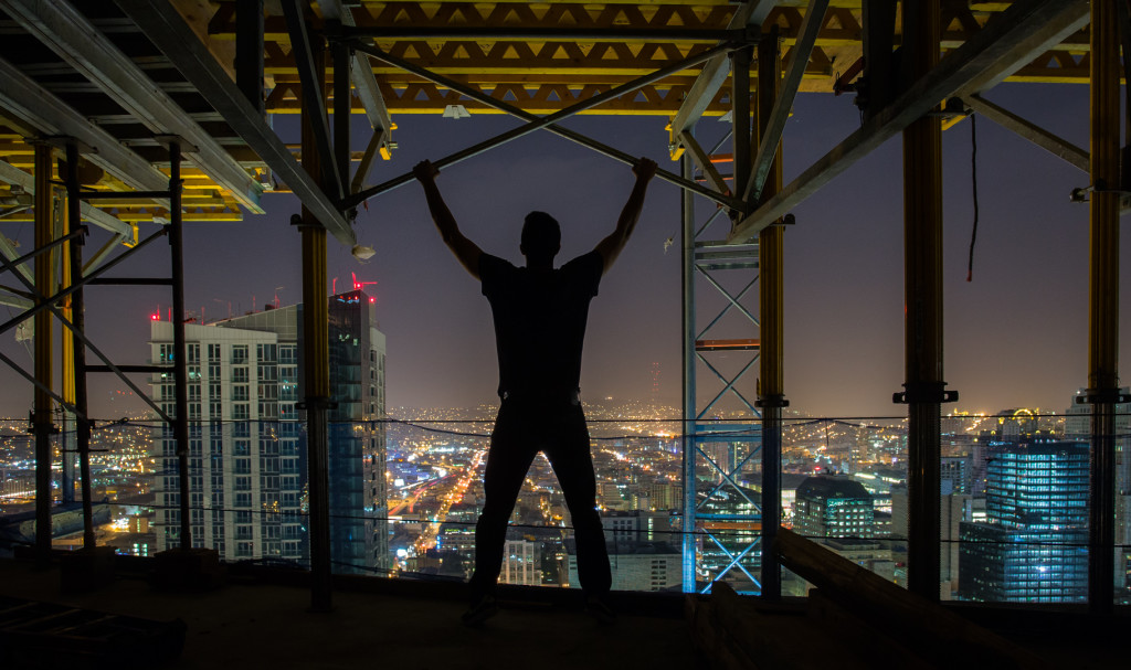 Midnight rooftopping in San Francisco