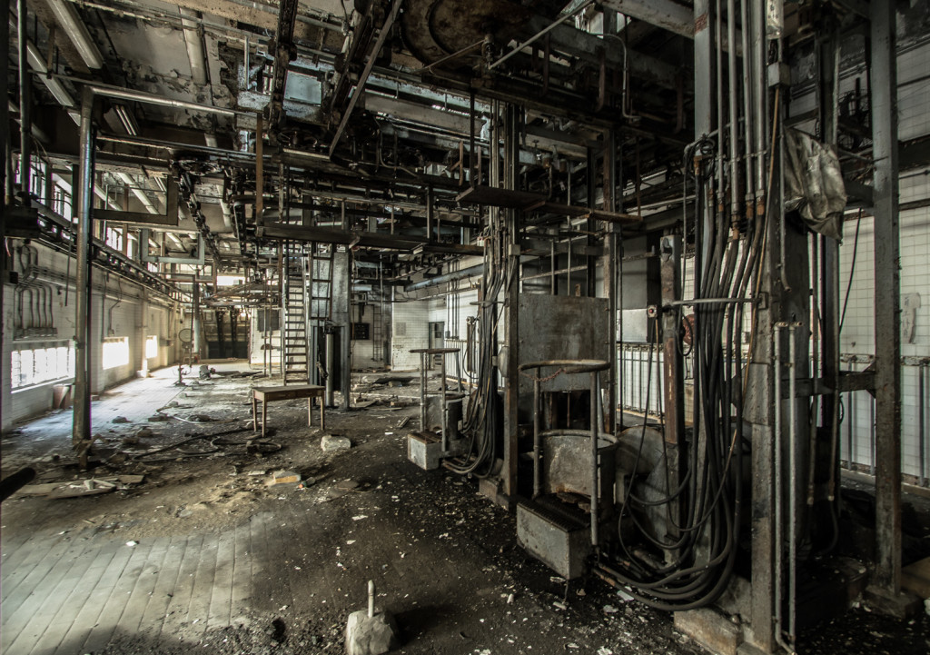 Section of an abandoned slaughterhouse; taken during urbex in Hong Kong
