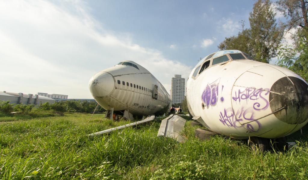 Airplane graveyard; Urbex in Bangkok, Thailand