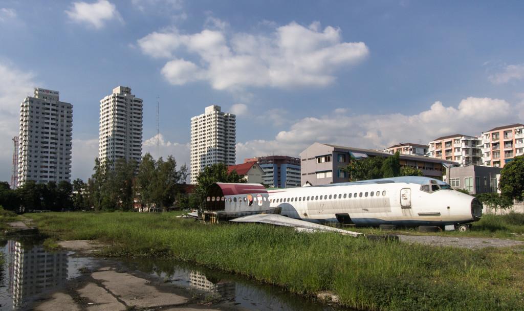 Abandoned plane graveyard in Bangkok, Thailand; Urban exploration
