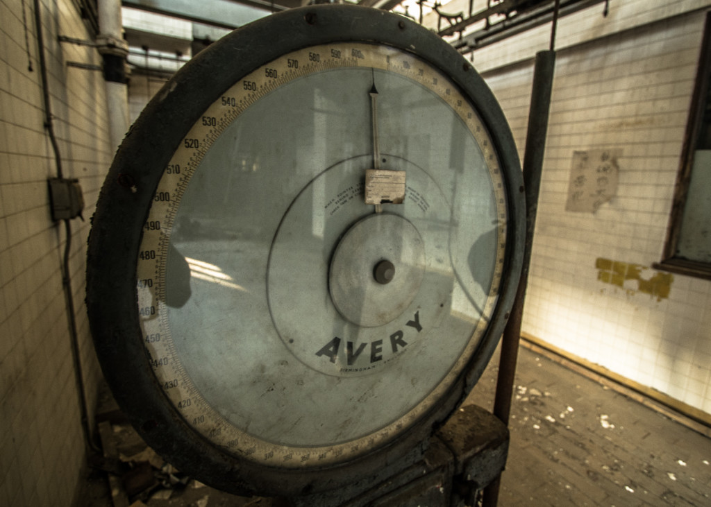 Weighing scale, found in an abandoned slaughterhouse